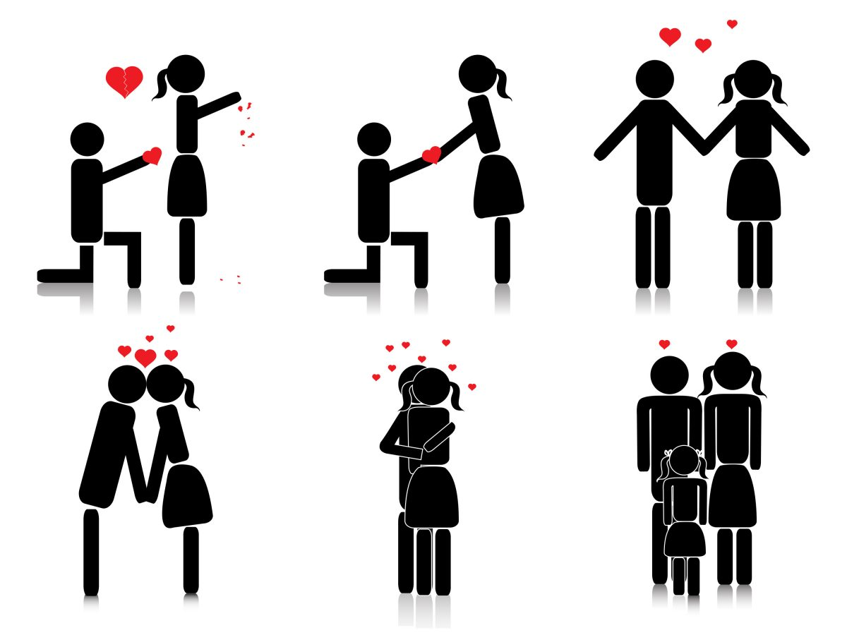 Graphic Image thematically depicting a great situation for a prenuptial agreement